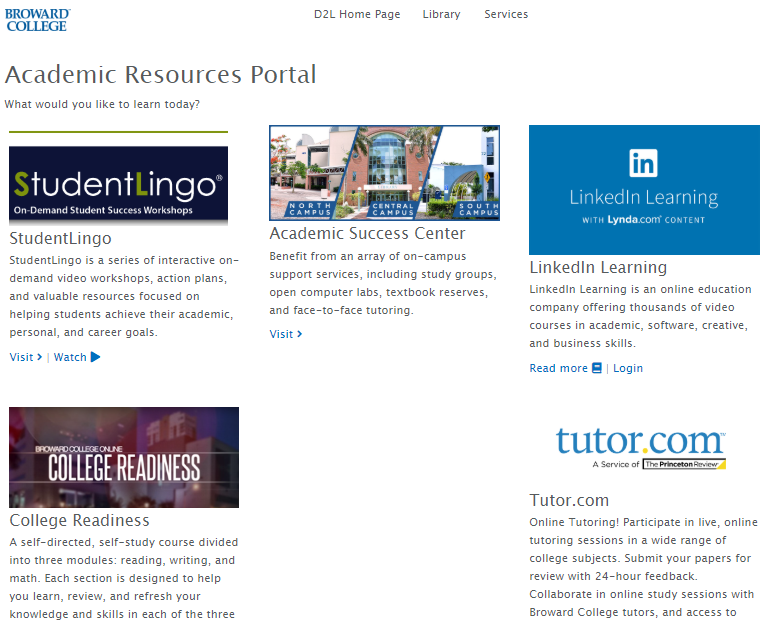 academic-resources-d2l-broward-college